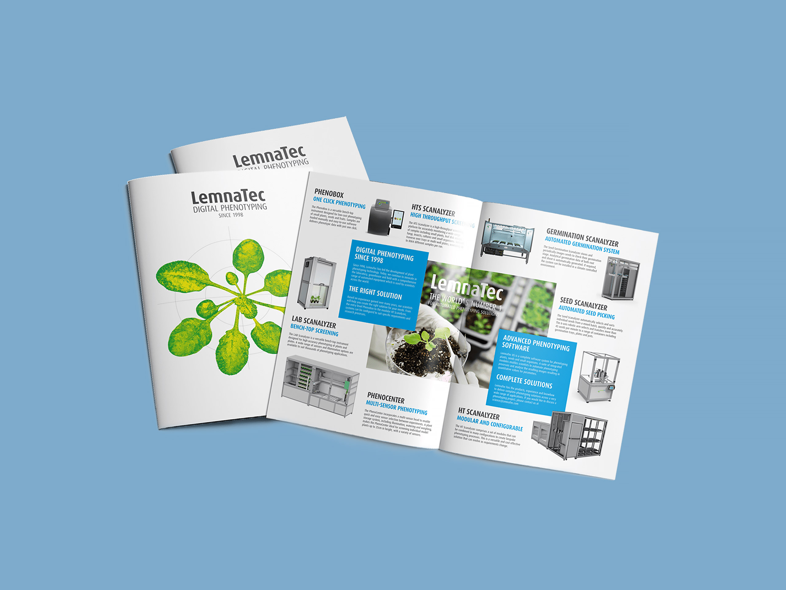 Lemnatec Corporate Design und Webdesign